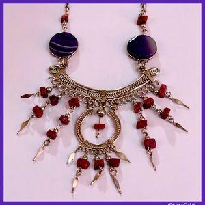 Jewelry - Antique Deep Stone Sash Necklace